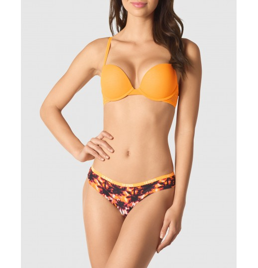 Бюстгальтер La Senza Remix Cotton Lace Orange c Push-up